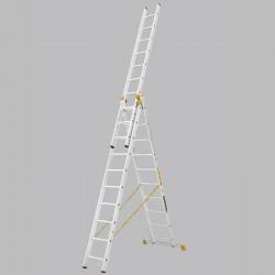 Scara profesionala cu trei tronsoane 10 trepte
