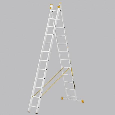 Scara cu doua tronsone profesionala cu 12 trepte